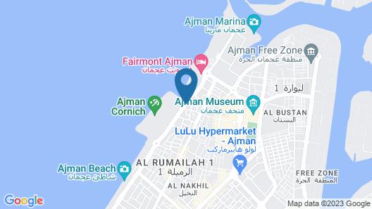 Tulip Inn Royal Suites Ajman Map