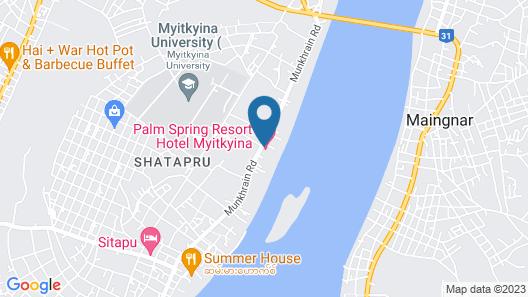 Myitkyina Plam Spring Resort Hotel Map