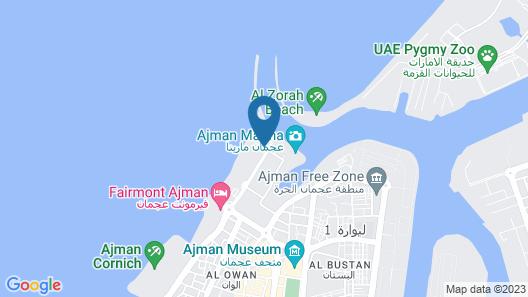 Ajman Hotel Map