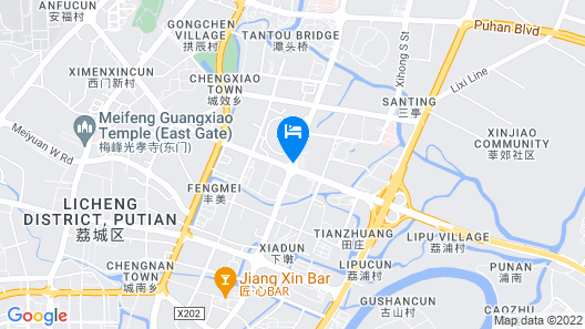 Haiyuan International Hotel-putian Map