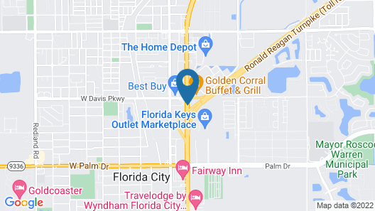 Baymont by Wyndham Florida City Map