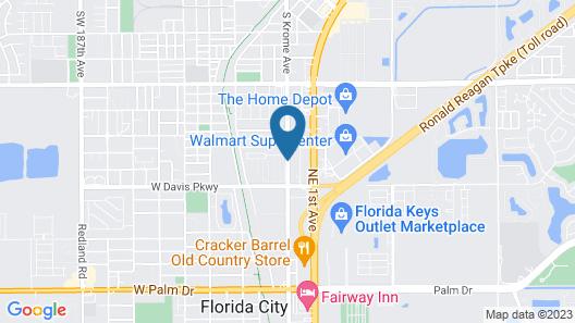 Budget Host Inn Map