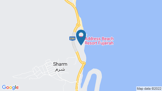 Address Beach Resort Fujairah Map