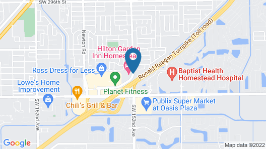 Uptown Suites Extended Stay Miami FL – Homestead Map