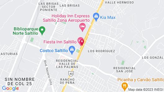 Fiesta Inn Saltillo Map