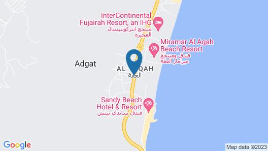 Fujairah Rotana Resort & Spa - Al Aqah Beach Map