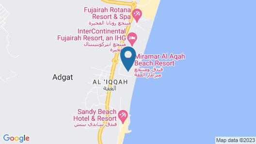 Miramar Al Aqah Beach Resort Map