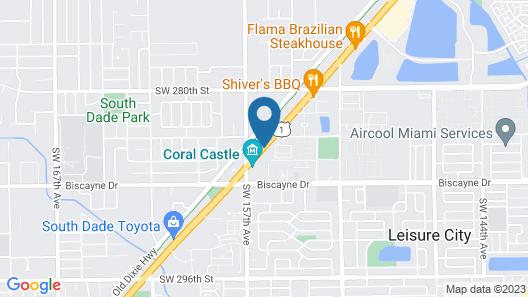 Deluxe Inn Motel Map