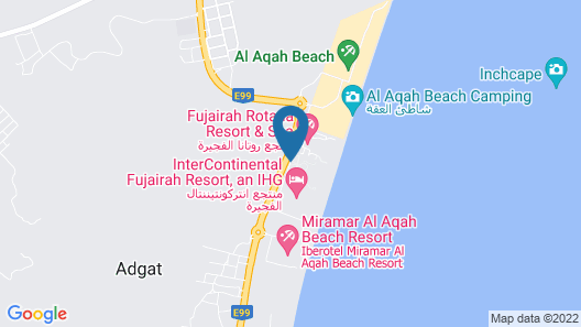 Le Meridien Al Aqah Beach Resort Map