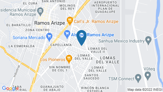 La Mejor Casa Para Familias y Grupos en Ramos Map