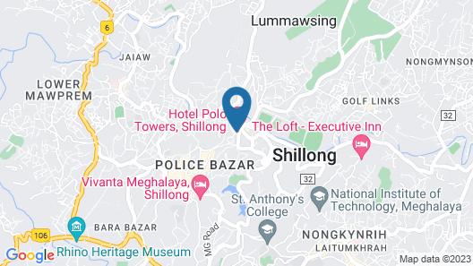HOTEL POLO TOWERS SHILLONG Map
