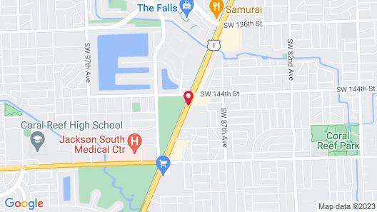 Quality Inn Miami South Map