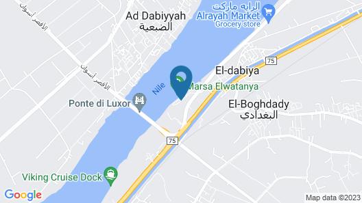 The Oberoi Zahra, Luxury Nile Cruiser Map
