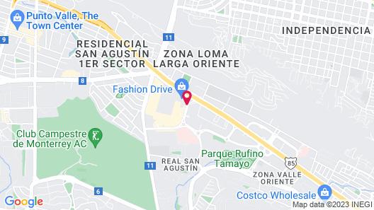 Camino Real Monterrey Map