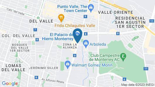 NH Collection Monterrey San Pedro  Map