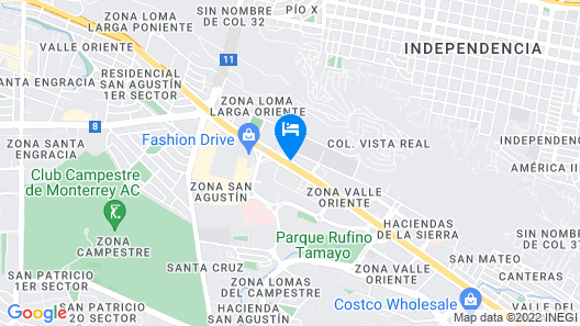 Holiday Inn Monterrey Valle Map