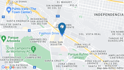 Camino Real Fashion Drive Monterrey Map