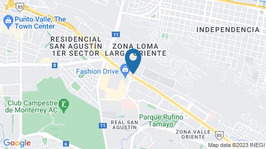 Live Aqua Urban Resort Monterrey Map