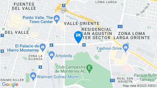 Holiday Inn Express & Suites Monterrey Valle, an IHG Hotel Map