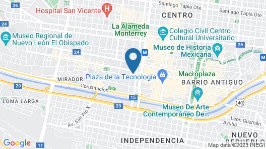 Fiesta Inn Express Monterrey Centro Map
