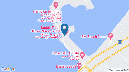 DoubleTree by Hilton Resort & Spa Marjan Island Map