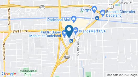 Marriott Miami Dadeland Map