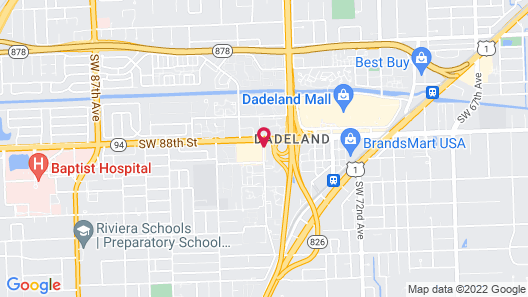 Aloft Miami Dadeland Map