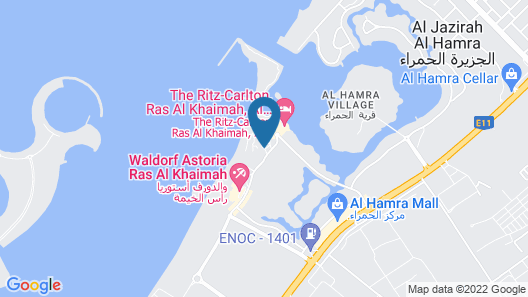 Hilton Al Hamra Beach & Golf Resort Map