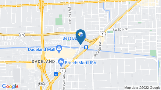 Towers of Dadeland by Miami Vacations Map