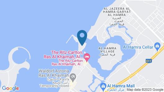 The Ritz-Carlton Ras Al Khaimah, Al Hamra Beach Map