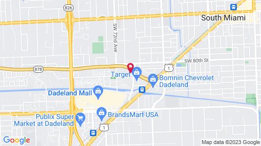 Hampton Inn Miami Dadeland Map