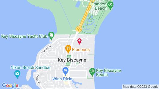 Key Colony at Key Biscayne Map