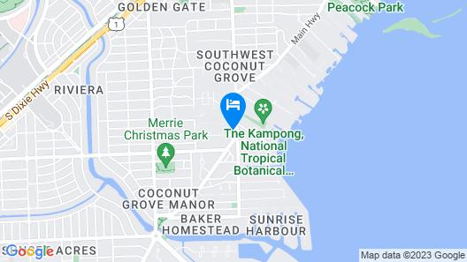 Cozy Coconut Grove Studio Map