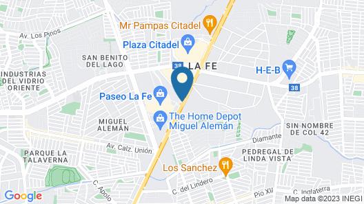 Fiesta Inn Monterrey La Fe Map