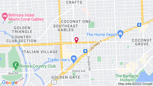 Four Points by Sheraton Coral Gables Map
