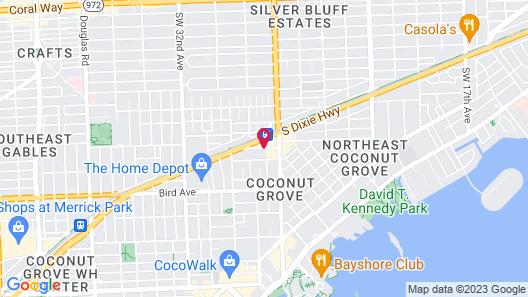 Hampton Inn Coconut Grove Map