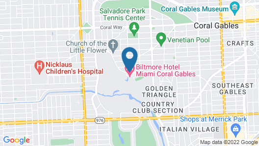 Biltmore Hotel - Miami - Coral Gables Map