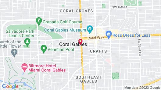 Aloft Coral Gables Map