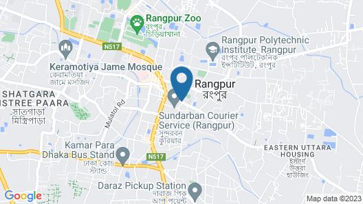 Grand Palace Hotel & Resorts Rangpur Map