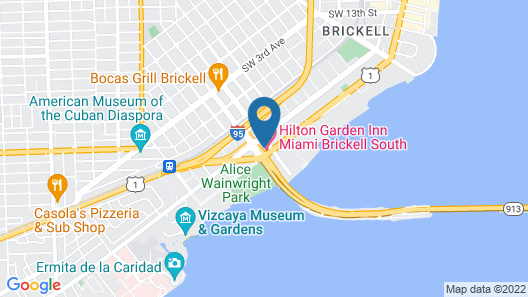 Hilton Garden Inn Miami Brickell South Map