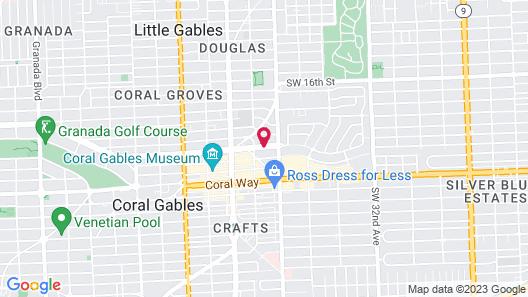 Hyatt Regency Coral Gables Map