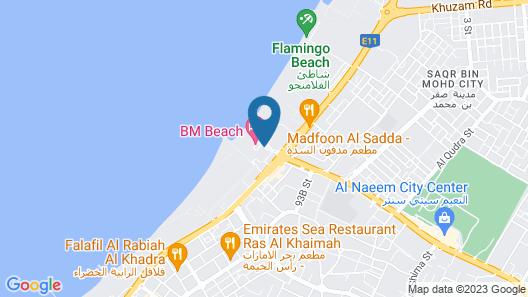 BM Beach Hotel Map