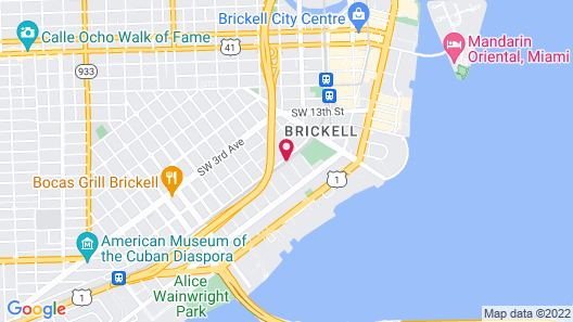 Homewood Suites by Hilton Miami Downtown/Brickell Map