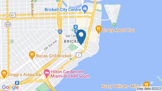 OB Brickell Miami Map