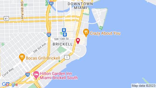 Conrad Miami Map