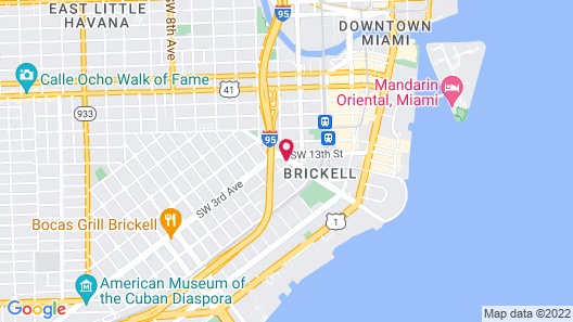 Extended Stay America Premier Suites Miami Downtown Brickell Map