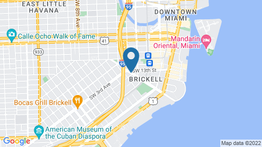 Extended Stay America - Miami - Downtown Brickell - Cruise Port Map