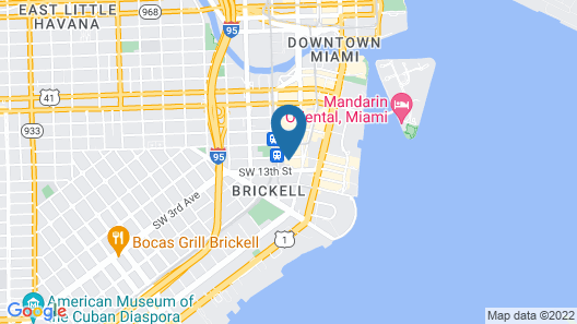 Hampton Inn & Suites Miami/Brickell-Downtown, FL Map