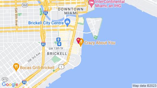 Hyatt Centric Brickell Miami Map