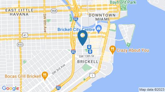 Aloft Miami - Brickell Map